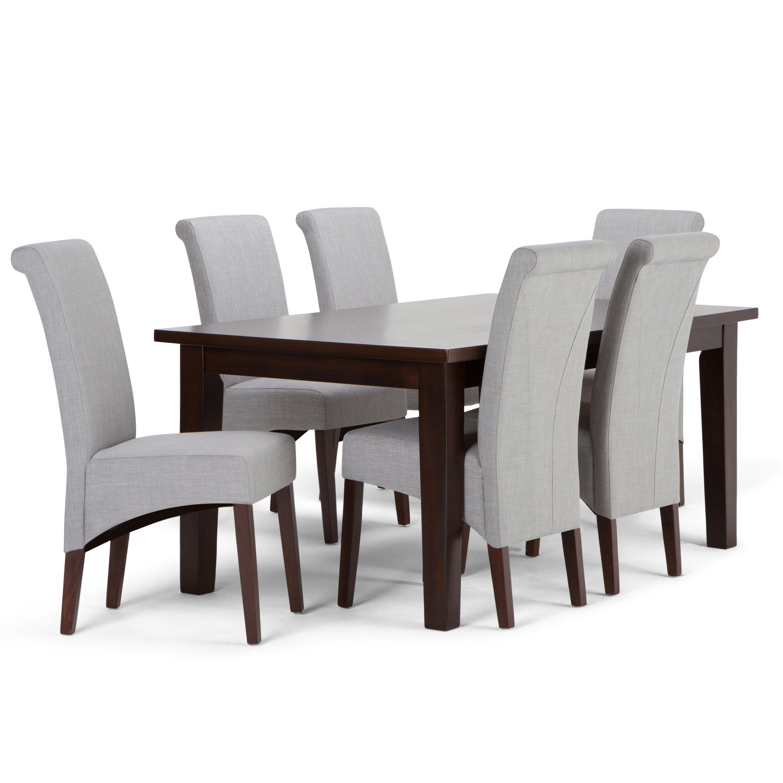 Simpli Home Avalon 7 Piece Dining Set U0026 Reviews | Wayfair