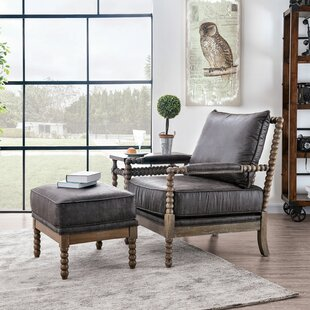 Gwenda Armchair and Ottoman by Gracie Oaks