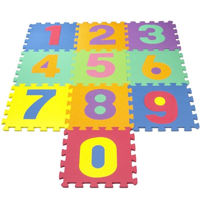 16 Pieces Of Puzzle Dot Foam Mats Kids