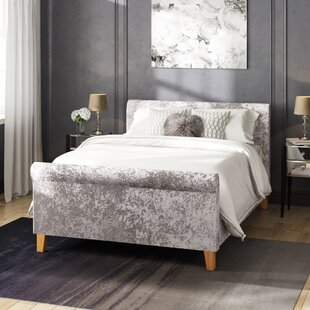 Jeff Double (4'6) Upholstered Sleigh Bed By Home Loft Concept