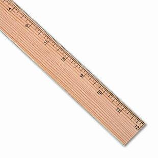 Flat Wood Ruler W/Double Metal Edge