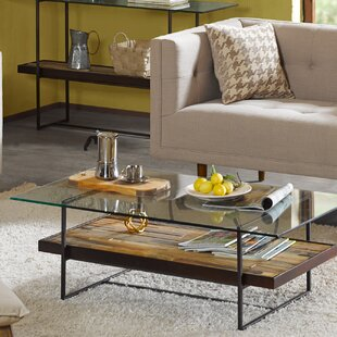 Macrae Coffee Table with Magazine Rack Union Rustic