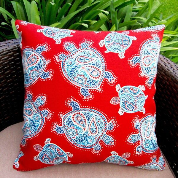 Artisan Pillows Kids Sea Turtle Indoor/Outdoor Pillow Cover ...