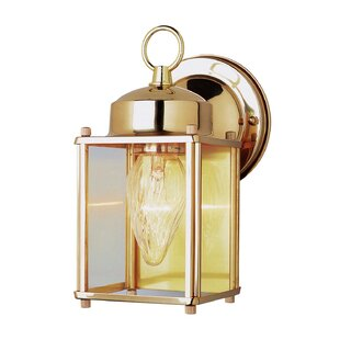 Brooker 1-Light Outdoor Wall Lantern by Charlton Home