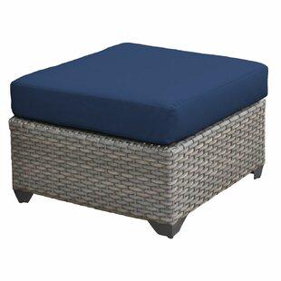 Meeks Outdoor Ottoman with Cushion