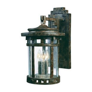 Loon Peak Casa Grande 3-Light Outdoor Wall Lantern