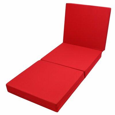 Queen Size 4-Foldable Foam Mattresses Studio Folding Sofa Chair Bed Purple