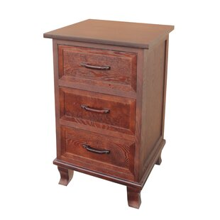 Compare Warburton 3 Drawer End Table by Millwood Pines