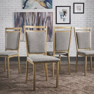 Adrijan Upholstered Side Chair in Gray Set of 4