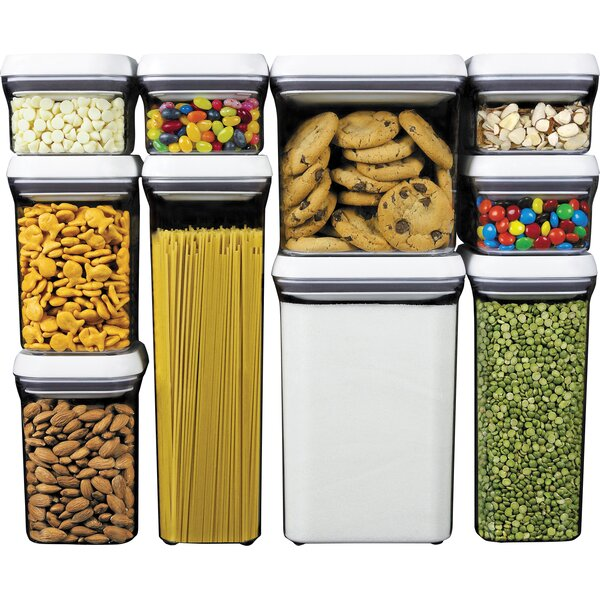 OXO Good Grips Pop 10 Container Food Storage Set Reviews Wayfair