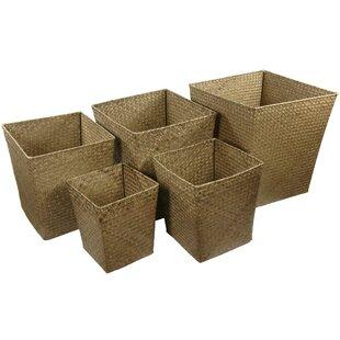 Bargain Hand Woven Storage Bin (Set of 5) ByOriental Furniture