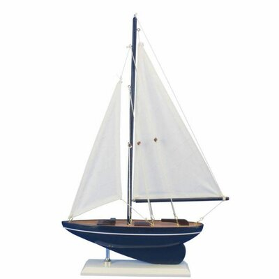 Gone Sailing Model Sailboat Handcrafted Nautical Decor