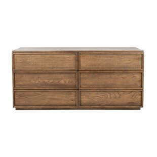 Imogen 6 Drawer Wood Standard Dresser