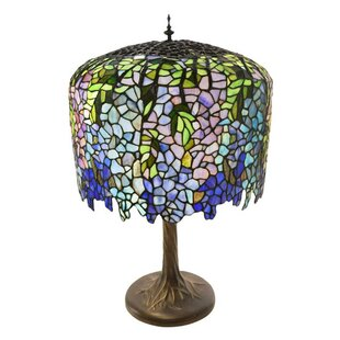 Affordable Crannell Tiffany Inspired Grand Wisteria Stained Glass 29.50 Table Lamp By Fleur De Lis Living