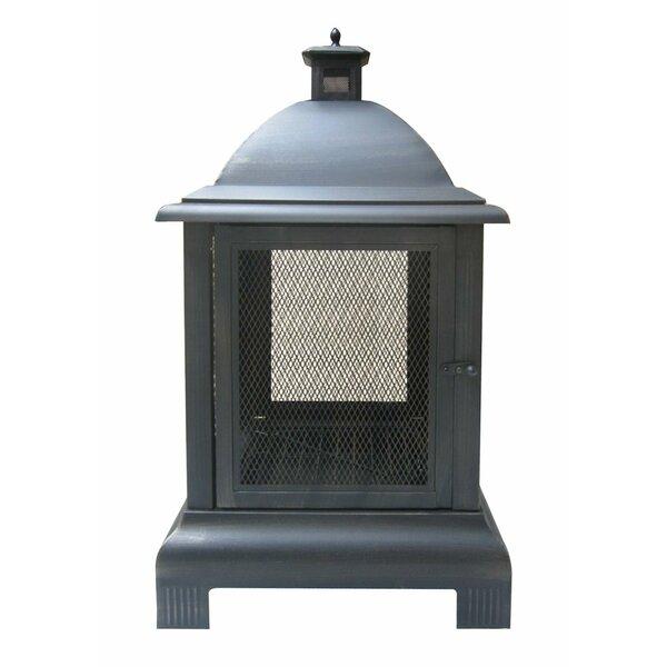 Ophelia Co Alvie Cast Iron Wood Burning Outdoor Fireplace