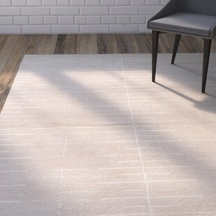 Coupon Heitzman Hand-Tufted Beige/White Area Rug By Wrought Studio