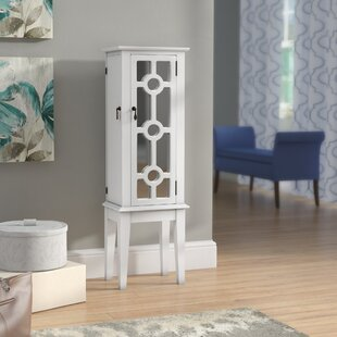 Andover Mills Mayer Free Standing Jewelry Armoire with Mirror