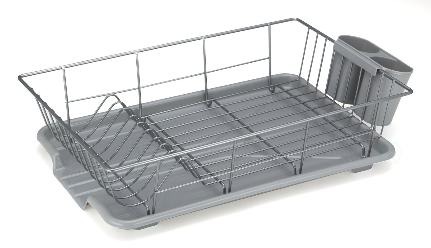Basicwise Stainless Steel Dish Rack Plate Amp Reviews Wayfair