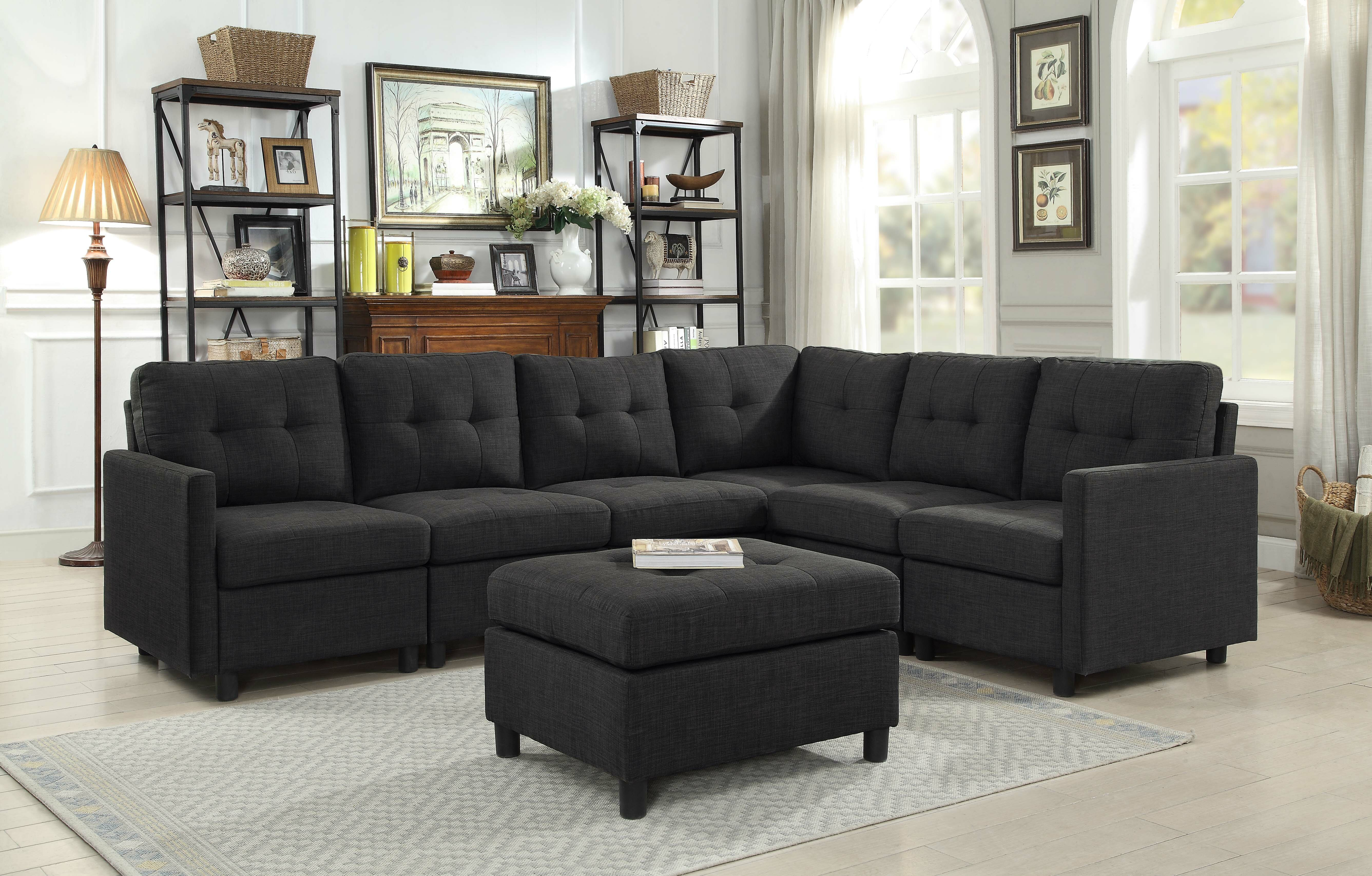 Astounding Wetherby Reversible Sectional With Ottoman Pabps2019 Chair Design Images Pabps2019Com