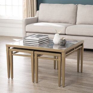 Bartel Faux Stone 3 Piece Nesting Tables