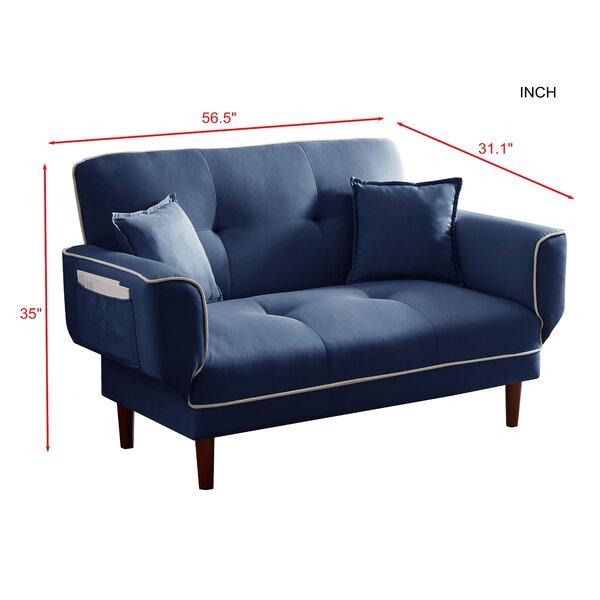 56.5'' Square Arm Sofa Bed