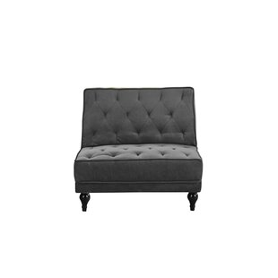 Damico Diamond Tufted Convertible Chair by Charlton Home