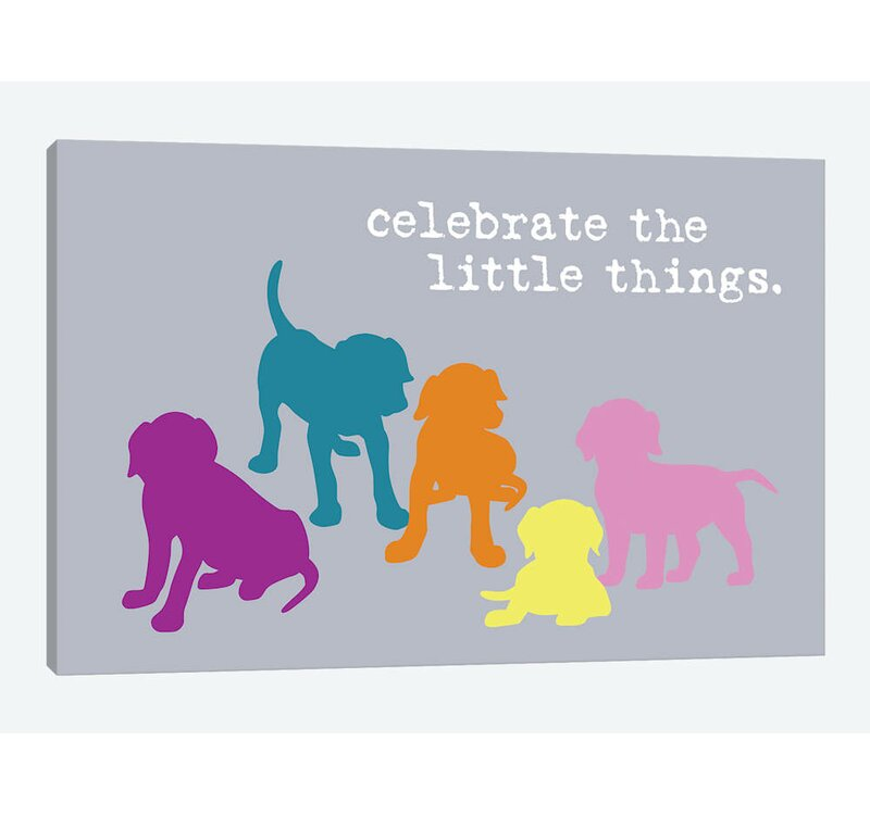 East Urban Home Little Things Multi Colored By Dog Is Good And Cat Is Good Graphic Art Print On Wrapped Canvas Wayfair