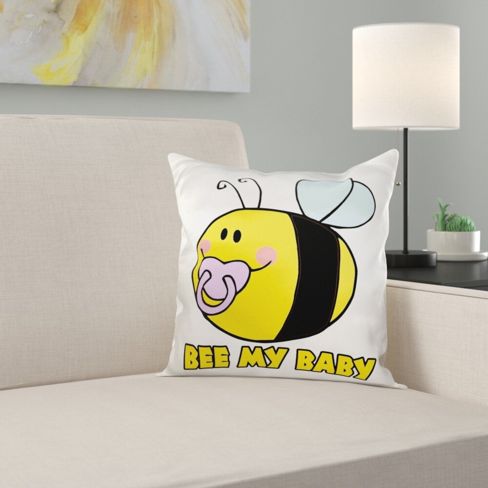 Trinx Bee My Baby Cute Baby Bumble Bee Animal Bugs Insects Cartoon Pillow Cover Wayfair