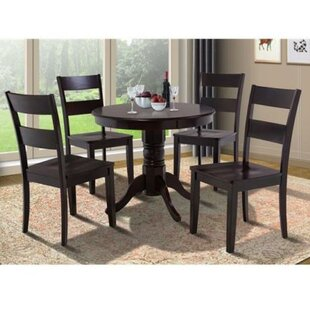 Alcott Hill Cedarville 5 Piece Carved Solid Wood Dining Set