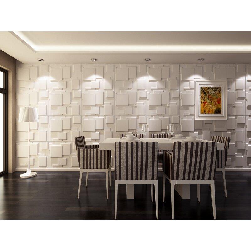 3D Wall Cubes Wainscot Panels