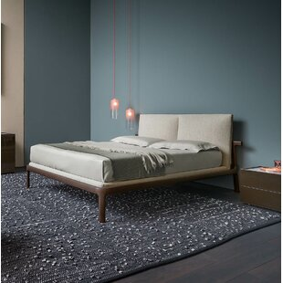 Fushimi Upholstered Platform Bed with Headboard Cushions and Mattress Base