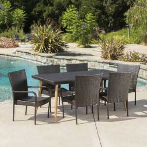 Outdoor Wicker Table And Chairs wicker patio dining sets - wicker patio furniture | wayfair