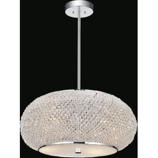 Tiffany 4-Light Crystal Chandelier by CWI..
