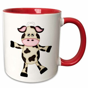 Giannone Cute Dancing Cow Graphic Coffee Mug