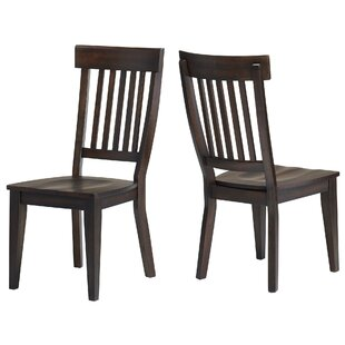 Carlsen Rake Back Solid Wood Dining Chair (Set of 2) Gracie Oaks