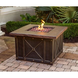 Rhonda Square Steel Propane Gas Fire Pit Table