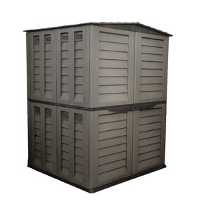 2 ft. 10 in. W x 4 ft. 10 in. D Plastic Horizontal Garbage Shed
