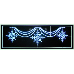 Queens of Christmas Snowflake Motif Lit with LED Rope Lighting