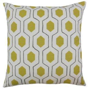 Flynn Geometric Cotton Throw Pillow