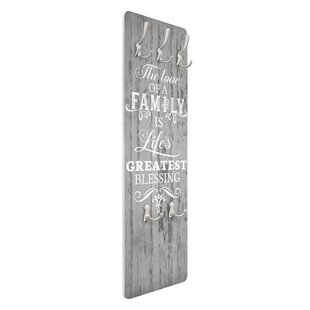 Shabby Wood - Family Is Wall Mounted Coat Rack By Symple Stuff
