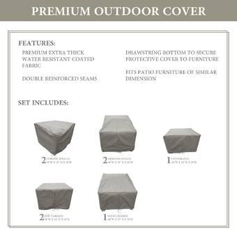 Tk Classics Monterey Water Resistant 8 Piece Patio Sofa Cover Set Reviews Wayfair