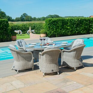 Geira 6 Seater Dining Set With Cushions By Sol 72 Outdoor