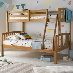Aaliyah Triple Sleeper Bunk Bed with Mattresses By Viv + Rae