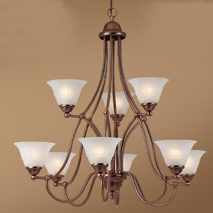 Classic Lighting Providence 9-Light Shaded Chandelier