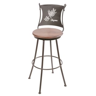 Chiu 25 Swivel Bar Stool by Fleur De Lis Living