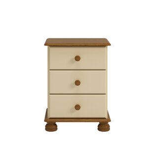 Midbury 3 Drawer Bedside Table By Marlow Home Co.