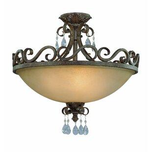 Astoria Grand Lilliane 4-Light Semi Flush Mount