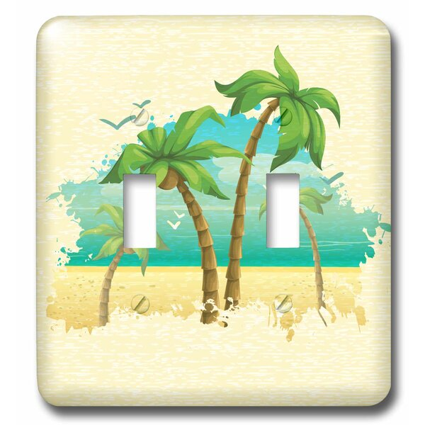 3drose Pretty Palm Trees Beach Scene Summer Nature Design 2 Gang Toggle Light Switch Wall Plate Wayfair
