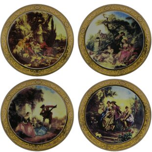 4 Piece Romantic Scenery Decorative Plate Set & 4 Inch Decorative Plates | Wayfair