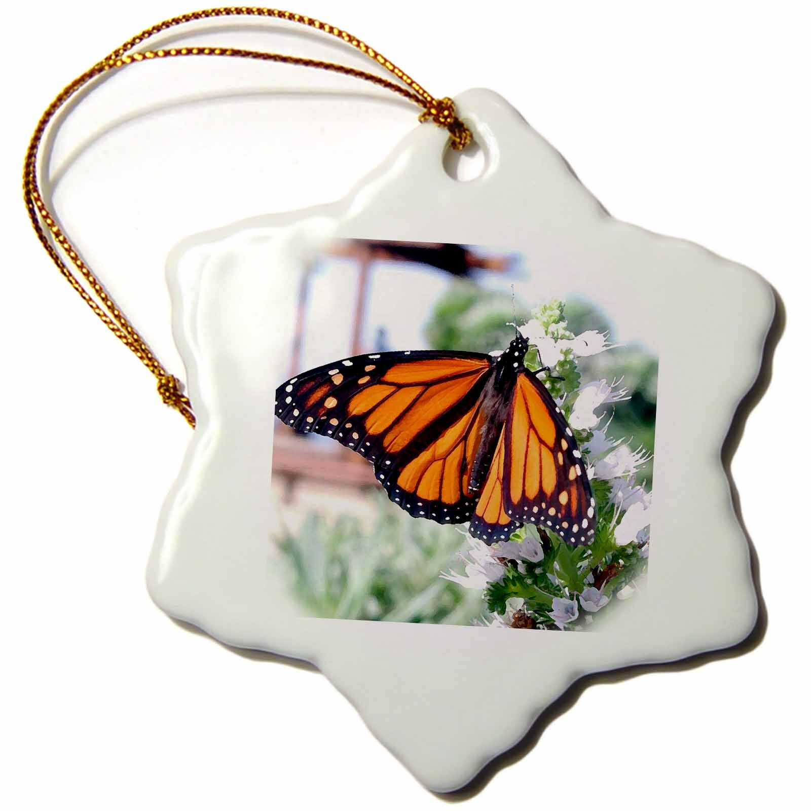 The Holiday Aisle Monarch Butterfly Holiday Shaped Ornament Wayfair